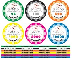 1000 Custom Ceramic Poker Chips