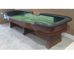 14 foot Casino quality Craps Table w/ vertical chip racks