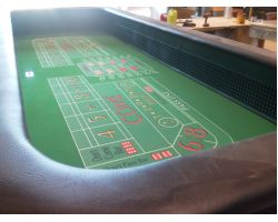 14 foot Casino quality Craps Table w/ Replaceable playing surface