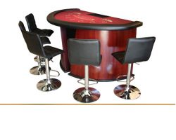 Deluxe Blackjack table with curved wood legs