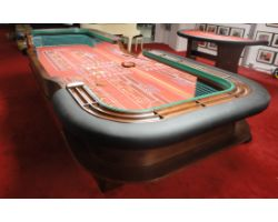 14 foot Casino quality Craps Table w/ Acrylic dealer mirror
