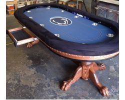 "96"" Custom poker table with options and pedestal legs"