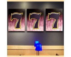 Sevens painting with 3 panel - Hand Painted Art !!