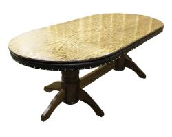 """92"""" Custom poker table w/ Empire legs and dining top board"""