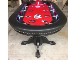 "96"" Custom poker table along Decorative nails"
