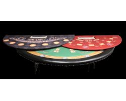 "84"" Blackjack style table w/ Replaceable felt design"