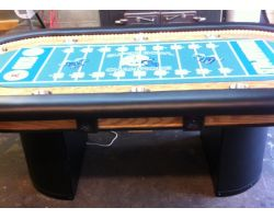 LED rope lights Custom poker table, padding under playing surface