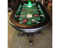 "96"" Custom poker table with Focused LED Lights"